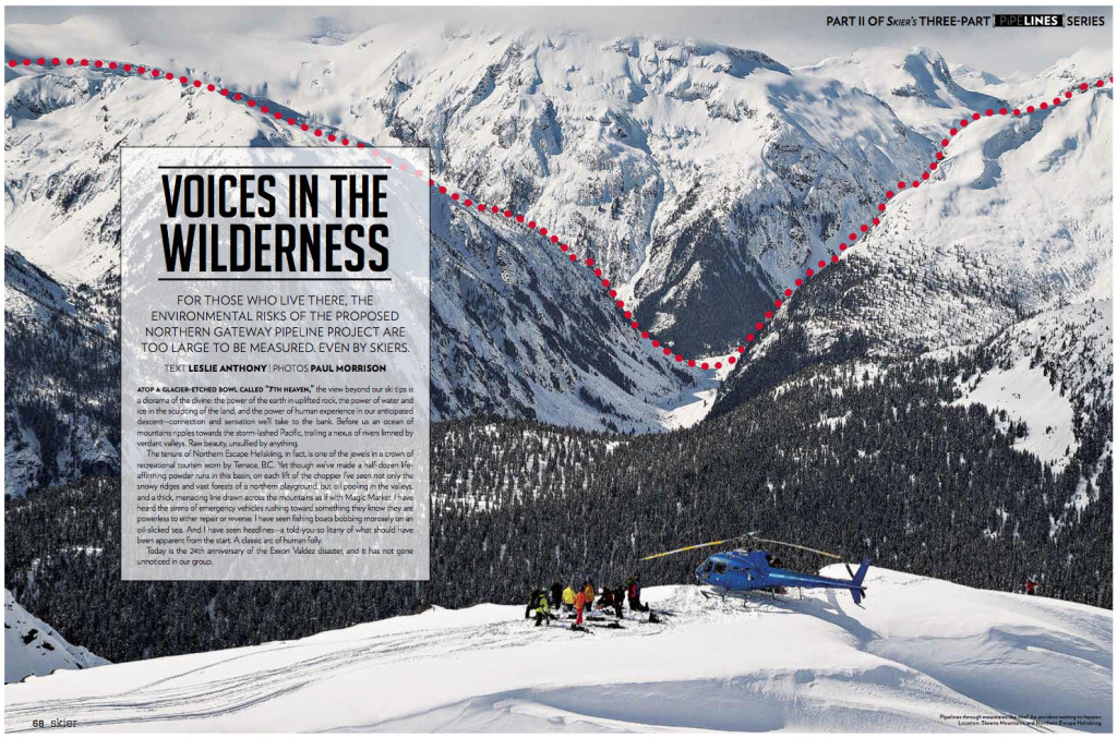 2013 Skier - Voices in the Wilderness cover