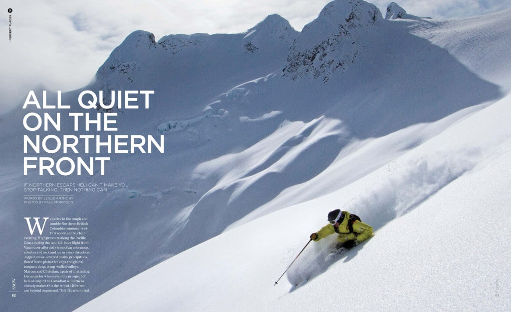 Snow Magazine article- All quiet on the Northern Front