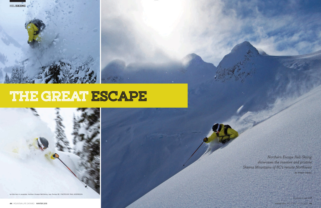 Mountain Life- The Great Escape - Heli Skiing in BC article