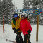 heli skiing contest winner - Kevin and Daughter