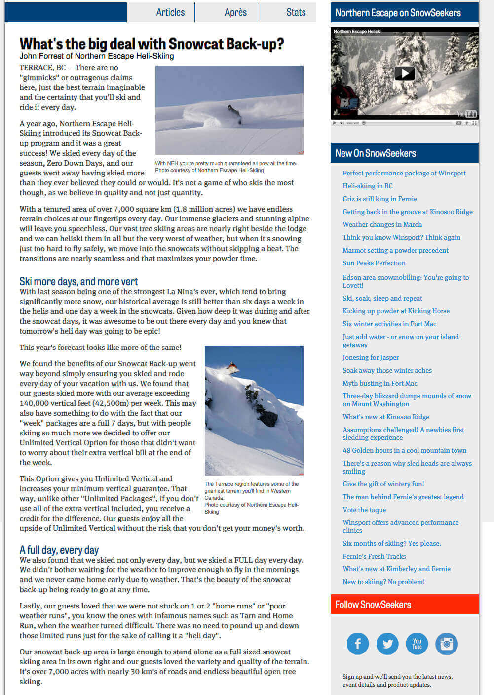 2013 Snowseekers-Snowcat Back-up article