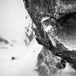 Chad Sayers skiing the steeps in Chamonix