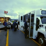 Guest load onto the NEH bus at the Terrace airport