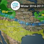Weather map showing the jet stream of snow.