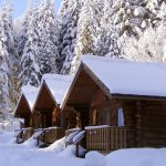 Private Log Cabin Heli Ski Accommodations in BC Canada