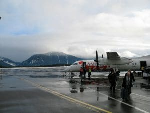 Heli Skiers Arriving in Terrace BC Canada