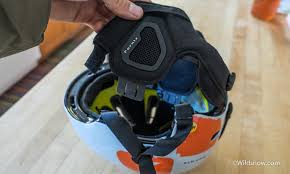 Image Displaying Removable Ear Pads in Ski Helment