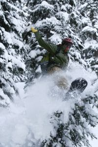 Our Partners Benny Abruzzo Jumping Through Trees in BC Canada