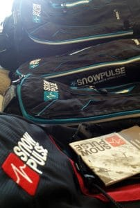 Three Snowpulse Avalanche Airbag Backpacks