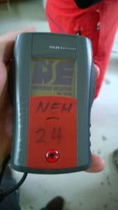 Avalanche Transceiver with NE Heli Skiing Logo