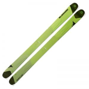 Blizzard Rustler 11 ski in green.