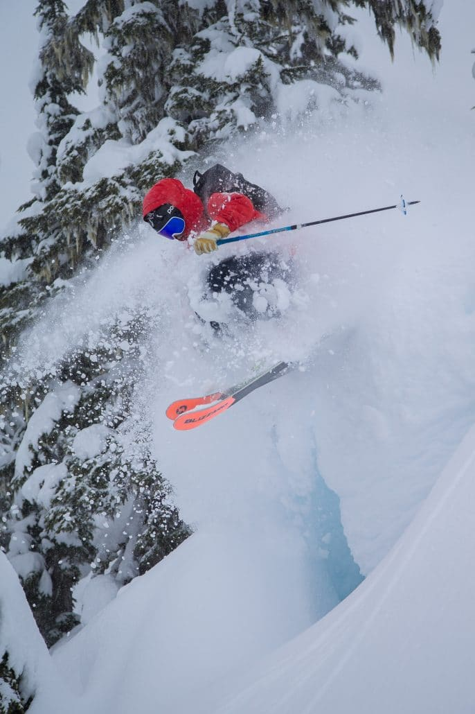 Deep powder day in catland at northern escape heliskiing