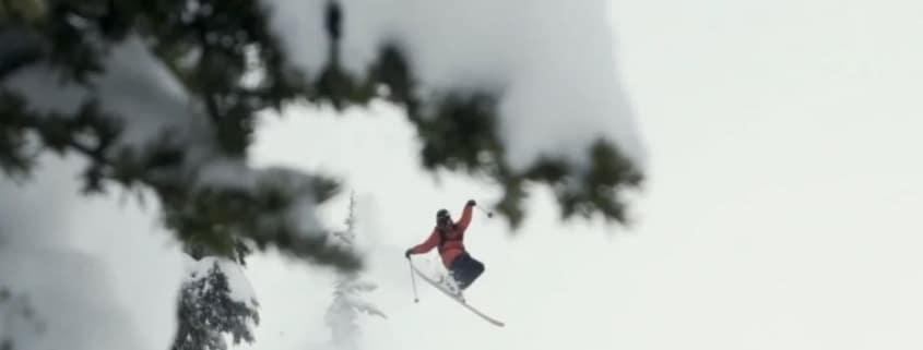 Snowboarding in Deep Powder