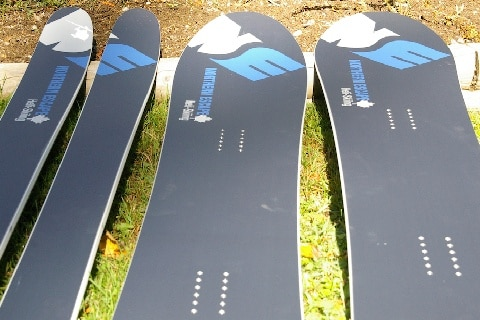 Skis and Snowboards for Heli Skiing