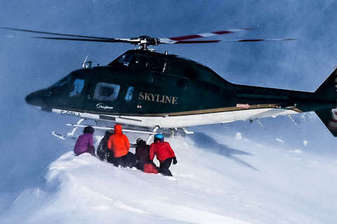 heli skiing in BC